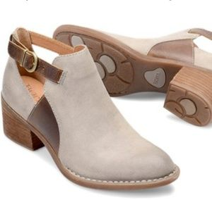 Born Carin ankle boots booties 9 M taupe/natural